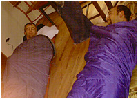 Rick and Richard in sleeping bags